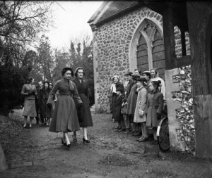 all saints church Princess Margaret 1954